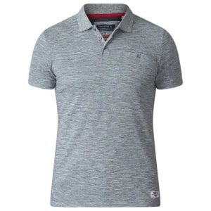 D555 Kingsize Dunstan Polo Light Grey