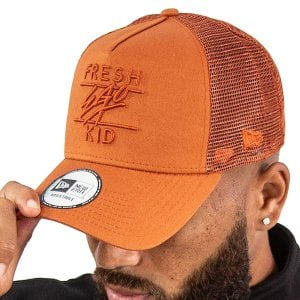 Fresh Ego Kid Mesh Trucker Cap Rust