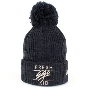 Fresh Ego Kid Bobble Hat Navy