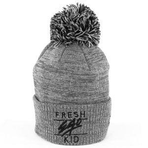 Fresh Ego Kid Bobble Hat Grey Marl