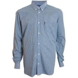 Ben Sherman Kingsize 48542 Gingham L/S Shirt Blue Denim