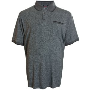 Espionage Kingsize P135 Jersey Marl Polo Charcoal