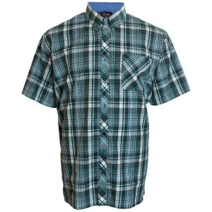 Espionage Kingsize SH263 Check S/S Shirt Navy/Green