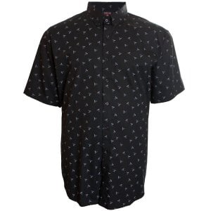 Espionage Kingsize SH271 Kingfisher S/S Shirt Black