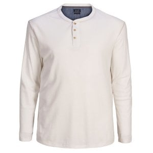 Jack & Jones Plus Size Henry L/S Top Cloud Dancer