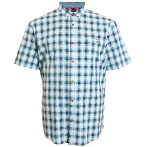 Mish Mash Kingsize 2293 Shaw Check S/S Shirt Blue/White