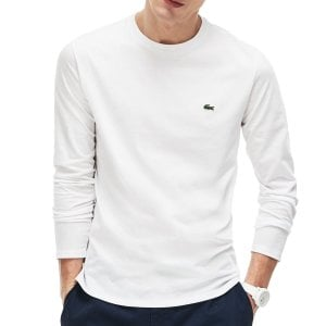 Lacoste Plus Size TH6712 Long Sleeve T-Shirt White