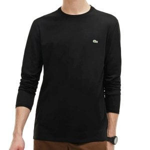 Lacoste Plus Size TH6712 Long Sleeve T-Shirt Black