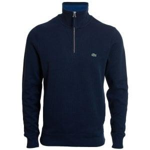 Lacoste Plus Size SH9252 Henley Sweatshirt Navy