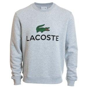 Lacoste Plus Size SH0605 Crew Sweatshirt Grey Marl