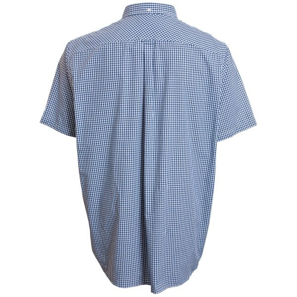 Big Men/'s Ben Sherman 55592 Gingham Short Sleeved Shirt Blue Denim