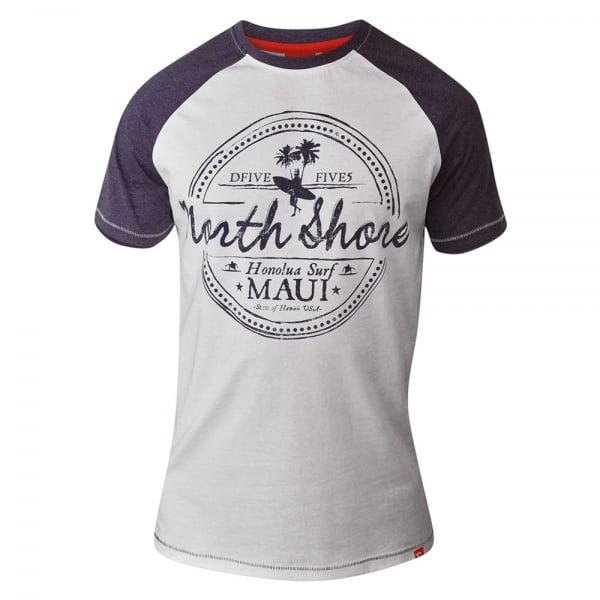 D555 Kingsize Jayson T-Shirt Grey/Purple Marl