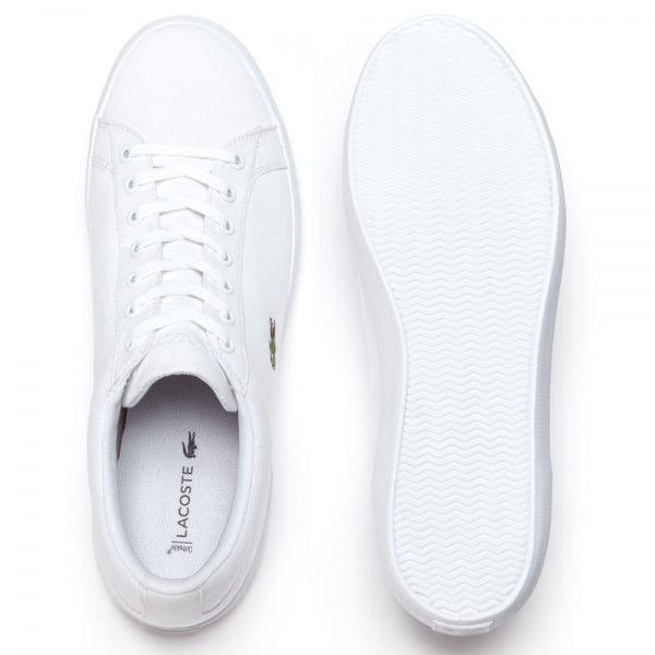 f21a702dd3a1 Lacoste Lerond Canvas Trainers White