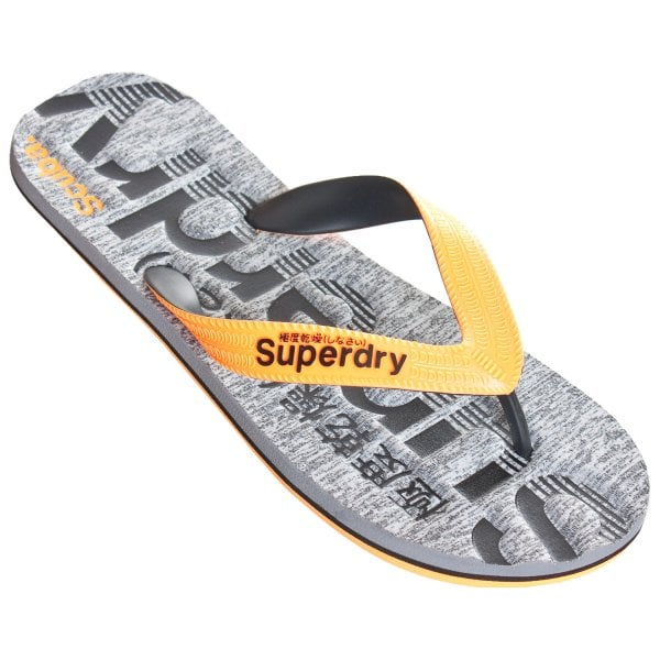 01857b2db15e Superdry Superdry Scuba Grit Flip Flops Grey Grit Orange